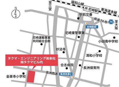 タクマ・エンジニアリング株式会社 本社地図